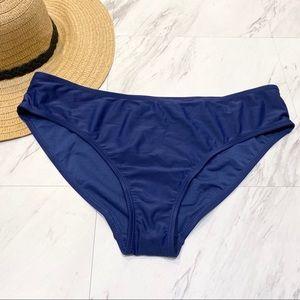 New! Nicole Miller Blue Swim Bikini Bottoms M